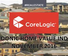 The CoreLogic November 2016 Hedonic Home Value Index