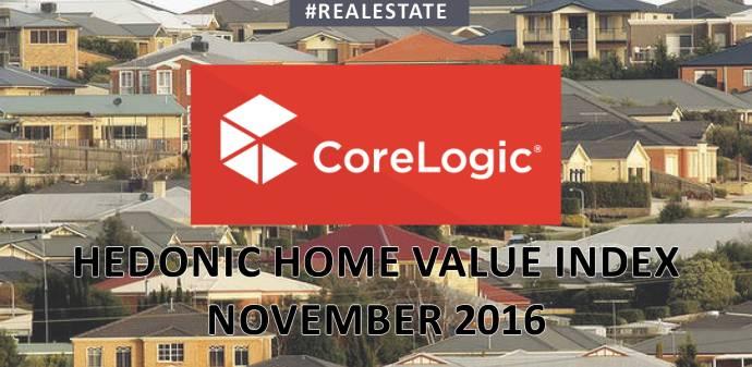 The CoreLogic November 2016 Hedonic Home Value Index