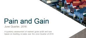 CoreLogic Pain and Gain Report - June Quarter 2016