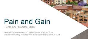 CoreLogic Pain and Gain Report - September Quarter 2016