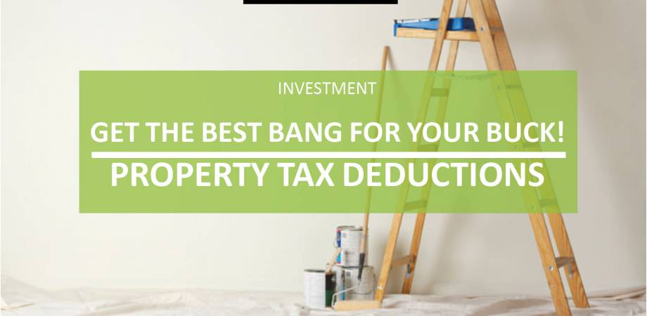 Get the best bang for your buck! Investment property tax deductions