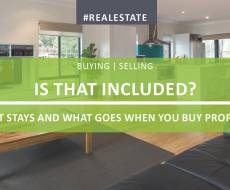 Is That Included? What Stays And What Goes When You Buy A Property