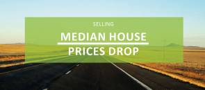 Median house prices drop for first time since 2012