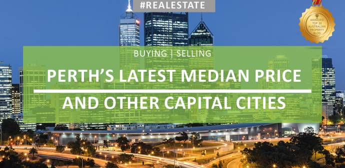 What's the new median price for Perth and our other cities?